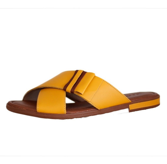 Chinelo Confortável Usaflex Amarelo Dourado 2203.