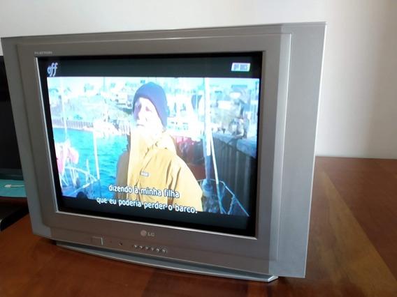 Tv Lg 21 Pol. Flatron, Em Ótimo Estado.