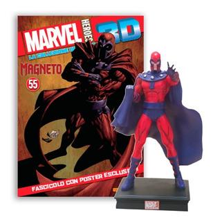 Marvel 3d Súper Héroes Figura Magneto #14 + Poster