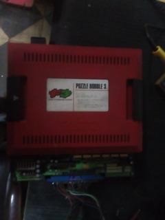 Placa Base Y Cartucho Arcade Puzzle Bobble 3 Original Taito.