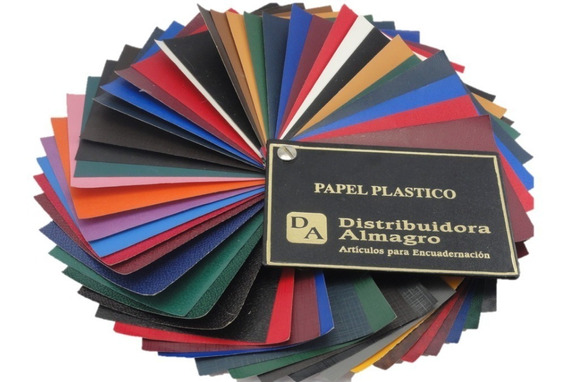 Papel Plastico Cobertura Vinilica Para Encuadernación X1 Mt