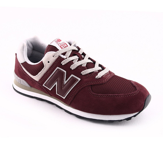 Zapatilla New Balance Gc574gb Bordo Niño Rcdmr