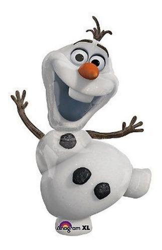 Imagen 1 de 1 de Olaf Frozen Globo Metalico Jumbo Fiesta Aventura Congelada