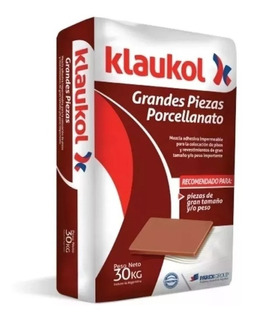 Klaukol Porcelanato Grandes Piezas X 30 Kg Mejoramos Ofertas