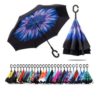 Paraguas Mayoreo 10 Pzs Sombrilla Reversibles Lluvia Sol
