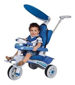 Carrinho Passeio P/ Bebê Baby Car Rosa Estofado Fit Magic