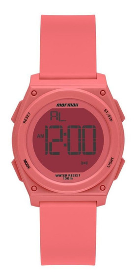Relógio Infantil Mormaii Mo9450aa/8t 36mm Silicone Rosa