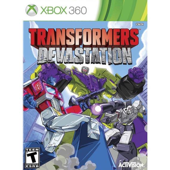 Game Xbox 360 Transformers Devastation - Original - Novo