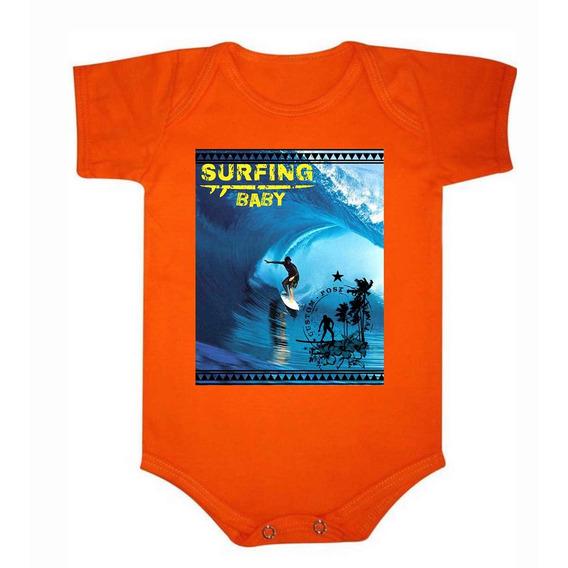Roupa De Bebê Body De Algodão Surf Baby - 033