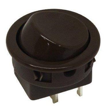 Chave 16123 Interruptor Tecla Unipolar 6a 2 Posições Marrom