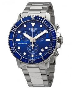 Relógio Tissot Seastar 1000 Cronógrafo Azul/prata/aço Diver