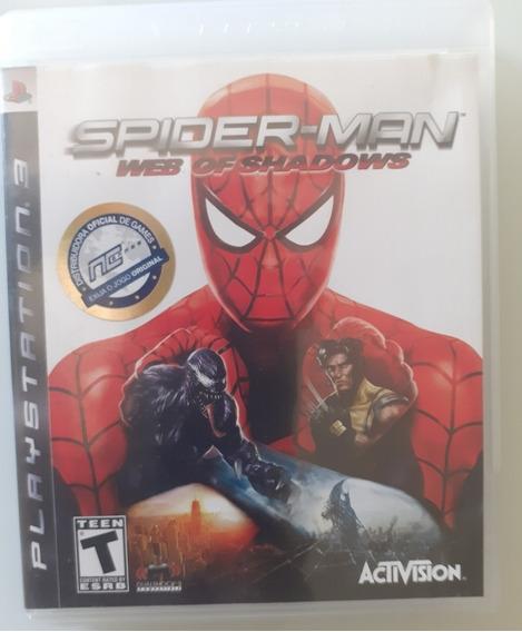 Spider Man Web Of Shadows Ps3 Mídia Física Conservado