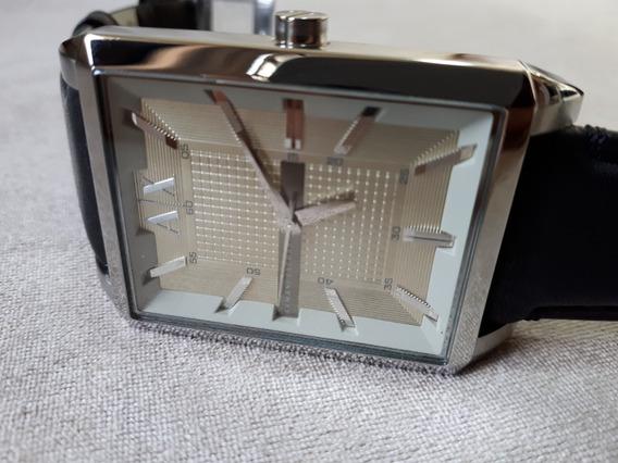 Relógio Original Armani Exchange Ax Pulseria De Couro Preto