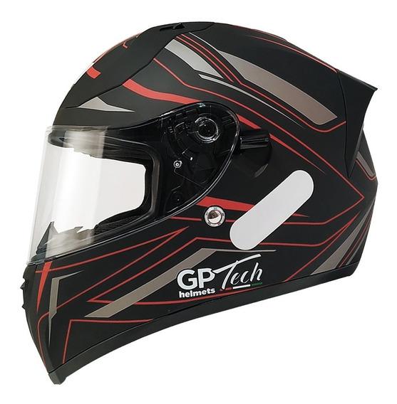 Capacete Moto Gp Tech V128 Fechado + Viseira Solar + Nfe