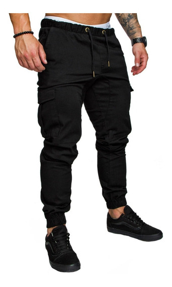 Pantalon Jeans Jogger Gabardina Hombre