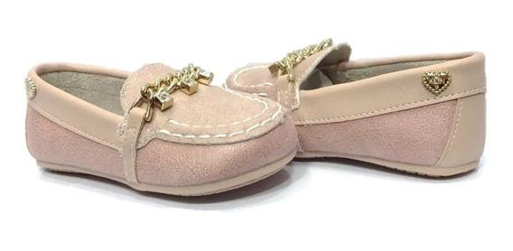 Sapato Mocassim Menina Klin Nude 005905 S/ Frete