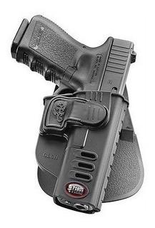Coldre Fobus Com Trava Glch Para Glock 17, 19, 25