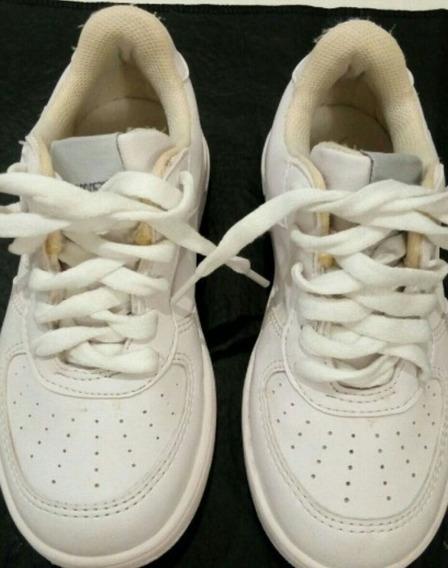 Zapatillas Plumitas Blancas Escolares Número 28