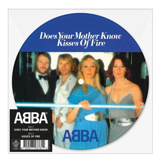 Abba Does Your Mother Know Vinilo Single 7 Picture En Stock