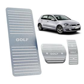 Kit Pedaleira + Descanso Volkswagen Golf 2014 Aço Inox