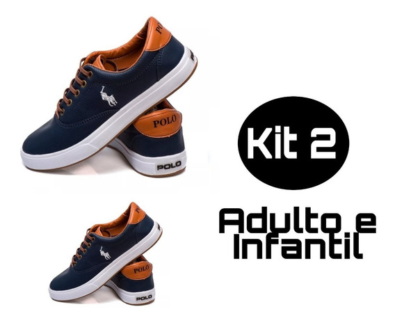 Tênis Polo Our Kit 2 - Pai E Filho (1 Adulto/1 Infantil)