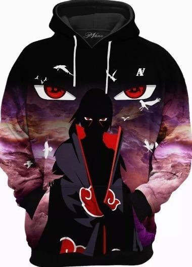 Blusa Moletom Frio Naruto Itachi Anime Sharingan Uchiha Otak