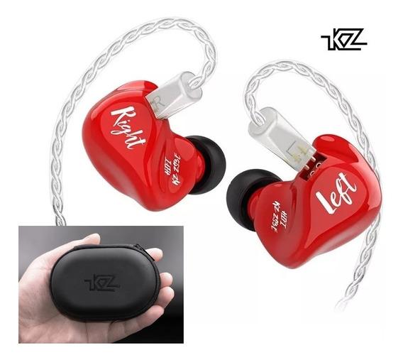 Kz Zs3e Sem Mic Edição Especial Com Cabo Silver + Case Kz!