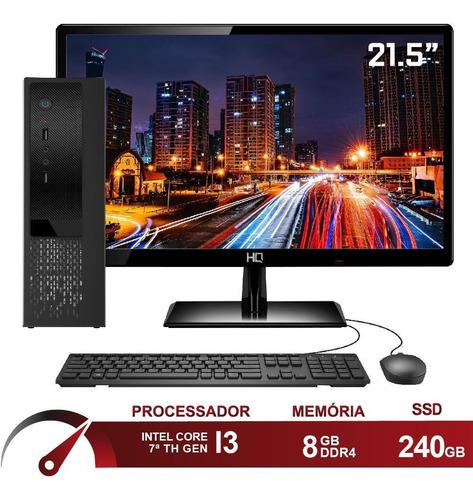 Pc Cpu Completo Intel I3 7100 8gb Ssd 240gb Skill Speedup