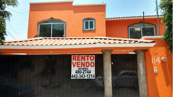 Rento Casa Queretaro Fracc.vista Hermosa Centrica Amplia