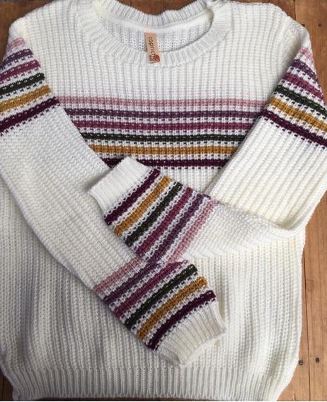 Suéter Vintage Tejido De Dama Otoño/invierno Sweater