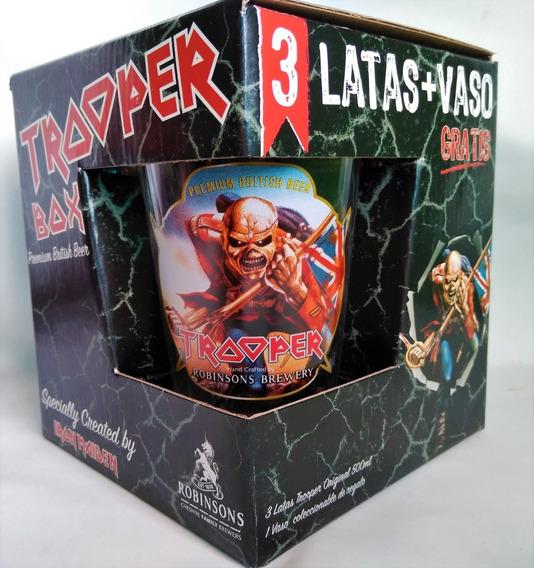 Iron Maiden The Trooper 3 Latas + Vaso Nuevo