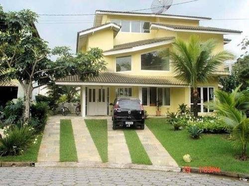 Casa Com 5 Dormitórios À Venda, 420 M² Por R$ 2.500.000,00 - Condomínio Hanga Roa - Bertioga/sp - Ca0148
