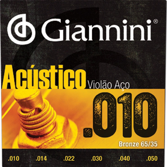 Encordoamento Violão Aço .010 65/35 Giannini Geswam