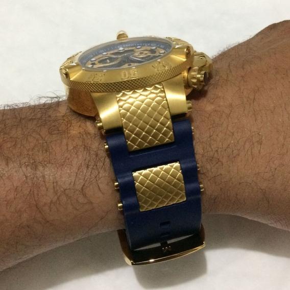 Relógio Masculino Invicta Noma 3 Subaqua Dourado Promoção