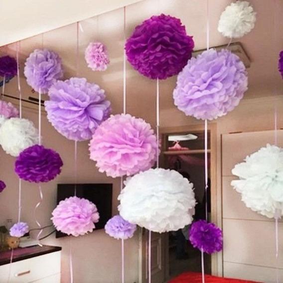 Pompones De Papel De Seda-flores De 35 Cm