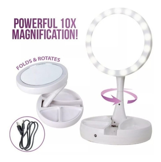 Espejo De Maquillaje My Fold Win Mirror (luz Led)