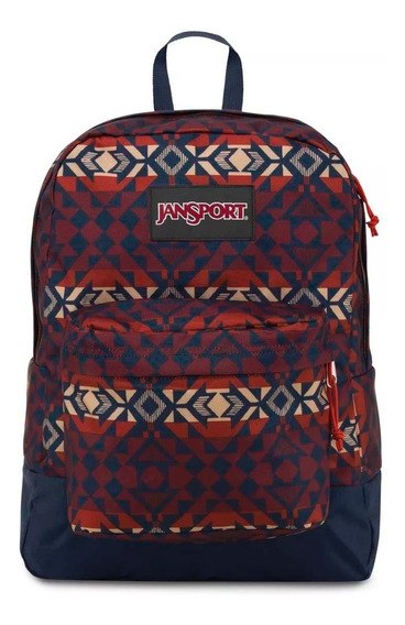 Mochila Jansport Superbreak Burnt Henna Abstract Angles 25l