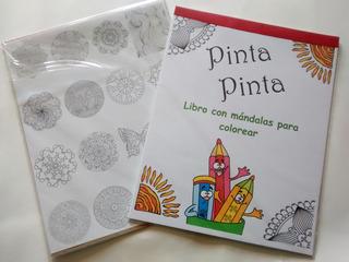 Libro Con Mándalas Para Colorear, Para Niños Y Adultos