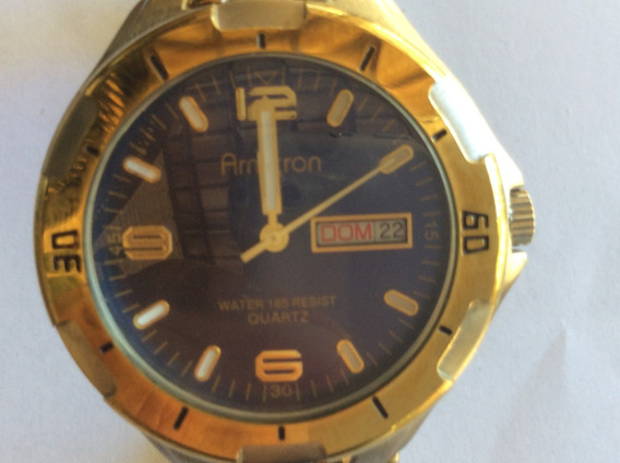 Relógio Americano, Movimento Japonês, Aço E Ouro, 40 Mm