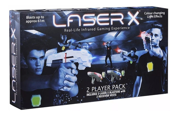 Arma Laser X Dupla Blaster C/ Colete Sunny Jogo De Combate