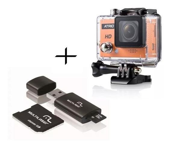 Kit Câmera Atrio Cam Hd 720p 5mp + Cartão 3x1 16gb Classe 10