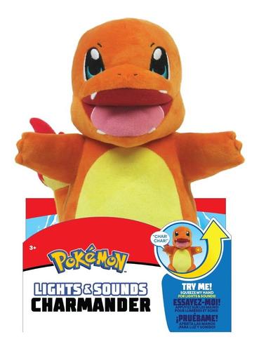 Imagem 1 de 3 de Pelúcia Pokémon Charmander Com Luz E Som 28 Cm - Wct Sunny