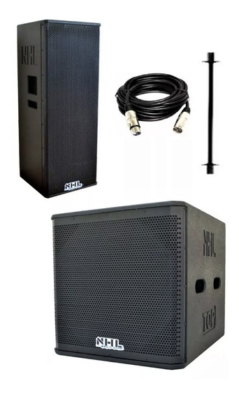 Kit Caixa Acústica Ativa Line Array 2x12 Subwoofer 18 2500w