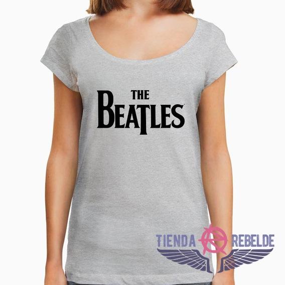 Remera De Mujer The Beatles Logo