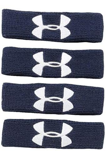 Under Armour Performance Wristbands Muñequeras (4 Pack) Azul