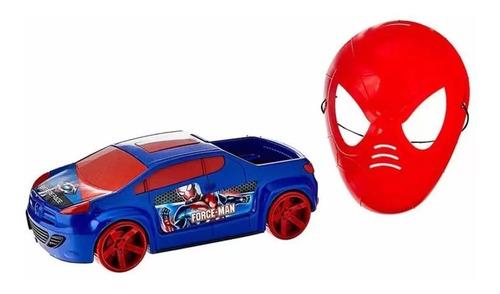 Imagem 1 de 2 de Brinquedo Carrinho + Mascara Super Herói Criança Infantil