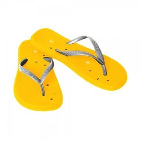 Sandalias Magnéticas C/ Tiras Pratas Feminina - 1 Par