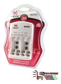 Carregador De Pilha Bateria Mox Cp50 Lacrado Original Bivolt