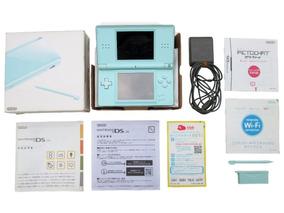 Nintendo Ds Lite Ice Blue Na Caixa Original Nintendo