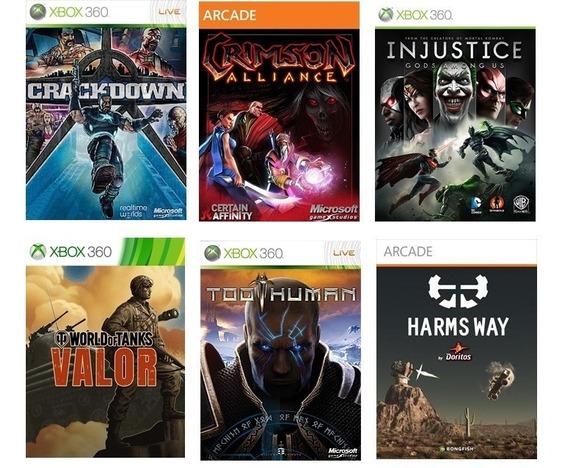 Combo 6 Jogos Xbox 360